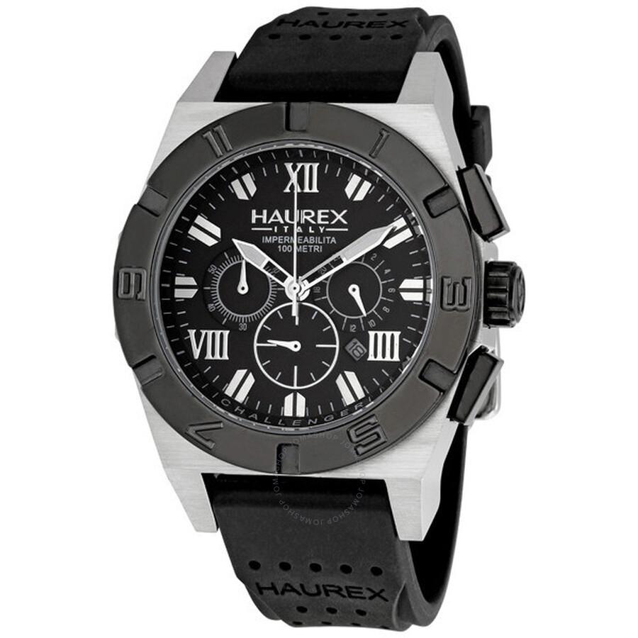 Haurex italy challenger men 39 s watch 3d350umm haurex italy watches jomashop for Haurex watches
