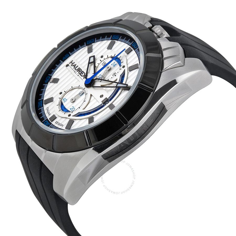Haurex italy chronograph silver dial men 39 s watch 3d362usb haurex italy watches jomashop for Haurex watches