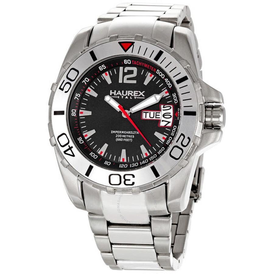 Haurex italy men 39 s caimano stainless steel divers watch 7a354unr haurex italy watches jomashop for Haurex watches