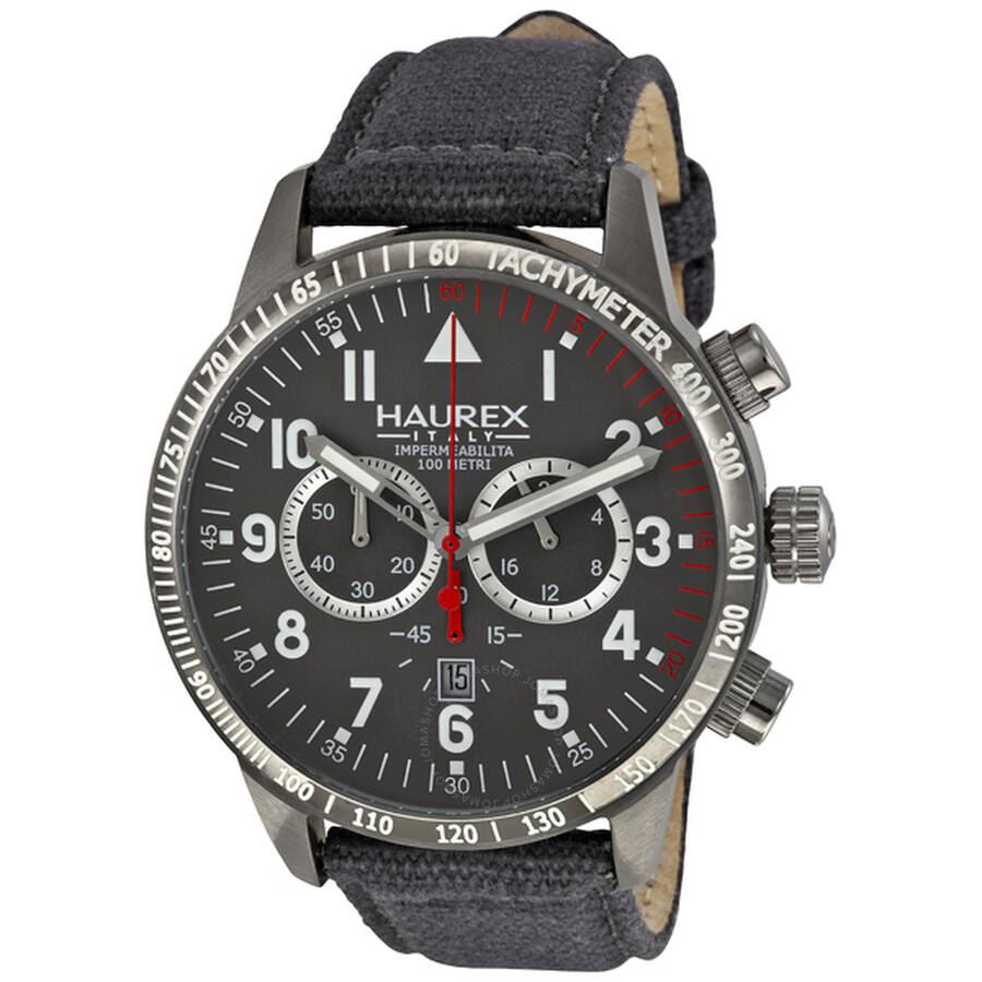 Haurex italy red arrow grey dial chronograph tachymeter men 39 s watch 9j300ugg haurex italy for Haurex watches