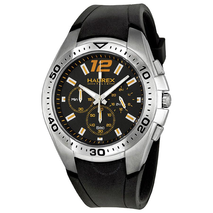 Haurex italy speed chronograph black dial men 39 s watch 3a384uno haurex italy watches jomashop for Haurex watches