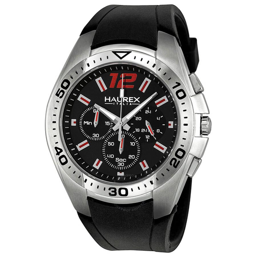 Haurex italy speed chronograph black dial men 39 s watch 3a384unr haurex italy watches jomashop for Haurex watches