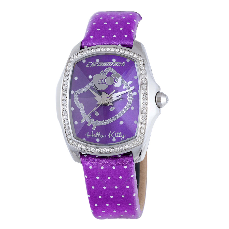 Hello Kitty By Chronotech Purple Dial Ladies Watch Ct7105ls43
