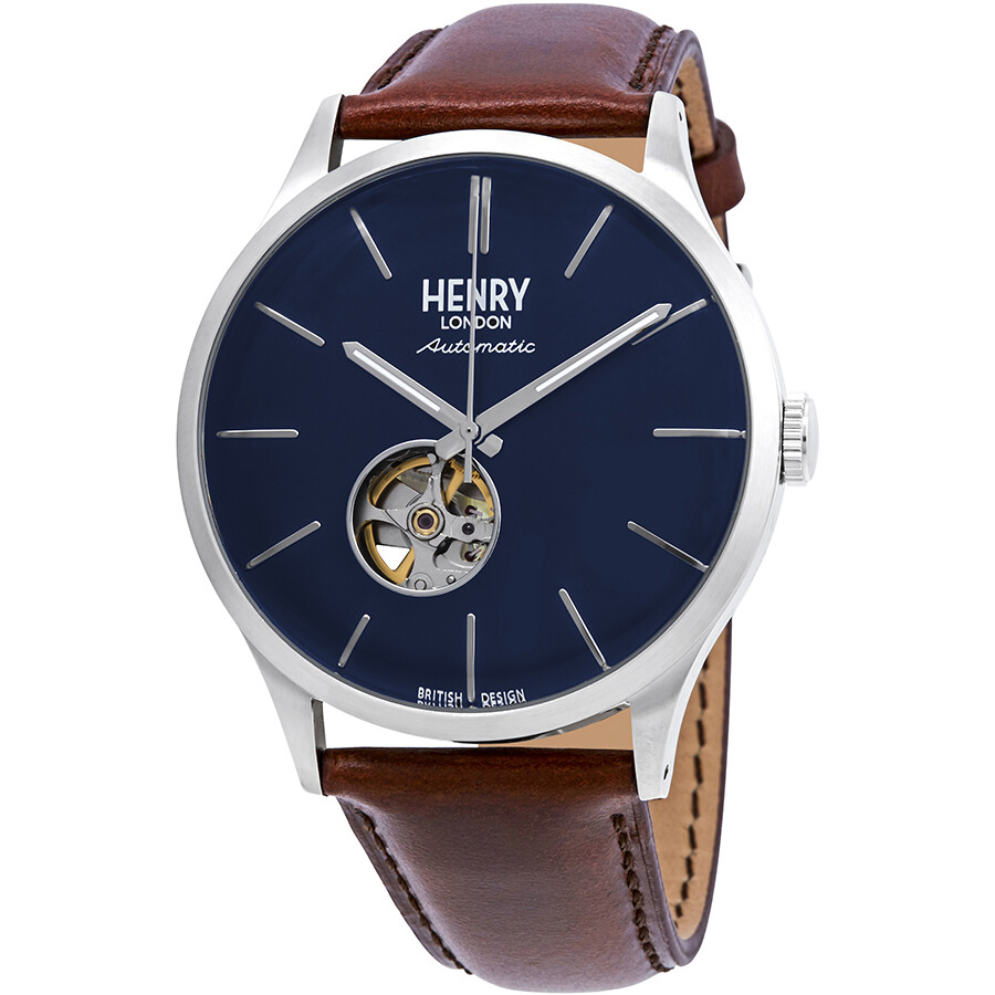 88afe00d179 Henry London Heritage Automatic Midnight Blue Dial Men s Watch HL42-AS-0277  ...