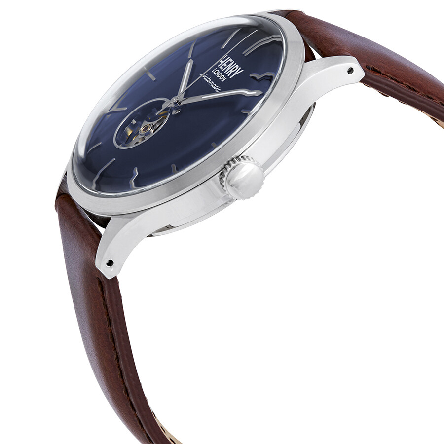 0fe37fd8f11 ... Henry London Heritage Automatic Midnight Blue Dial Men s Watch  HL42-AS-0277 ...