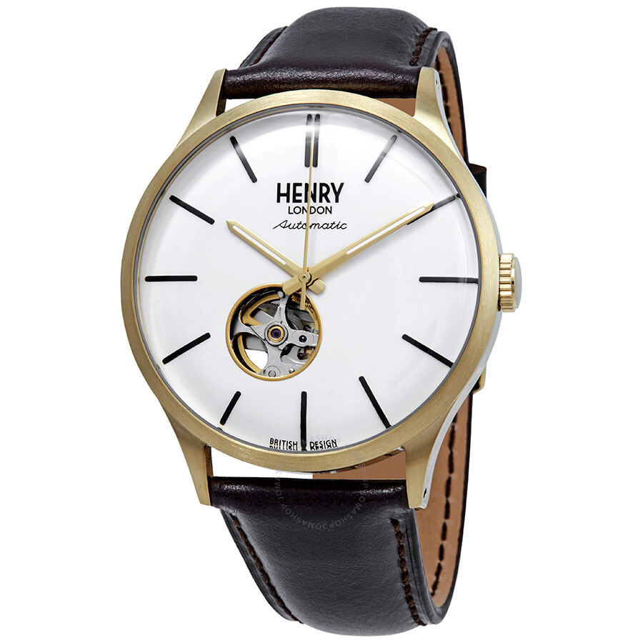 04040ca4d98 Henry London Heritage Automatic White Dial Men s Watch HL42-AS-0280 ...