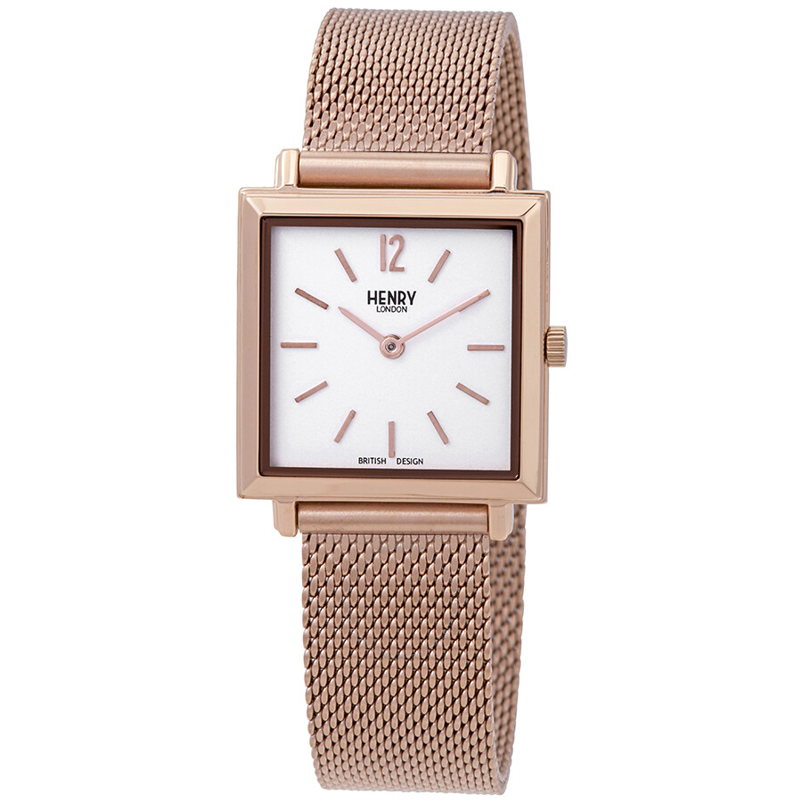 1aef3c79b81 Henry London Heritage Square Ladies Rose Gold-Tone Watch HL26-QM-0264 ...