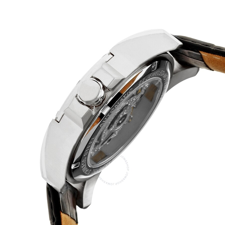00cc89d2d ... Heritor Armstrong Automatic Silver Skeleton Dial Men's Watch HR3401 ...