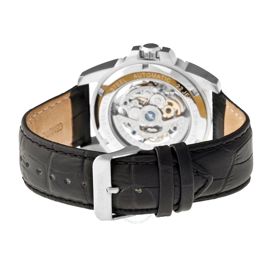 fd533ffee ... Heritor Armstrong Automatic Silver Skeleton Dial Men's Watch HR3401