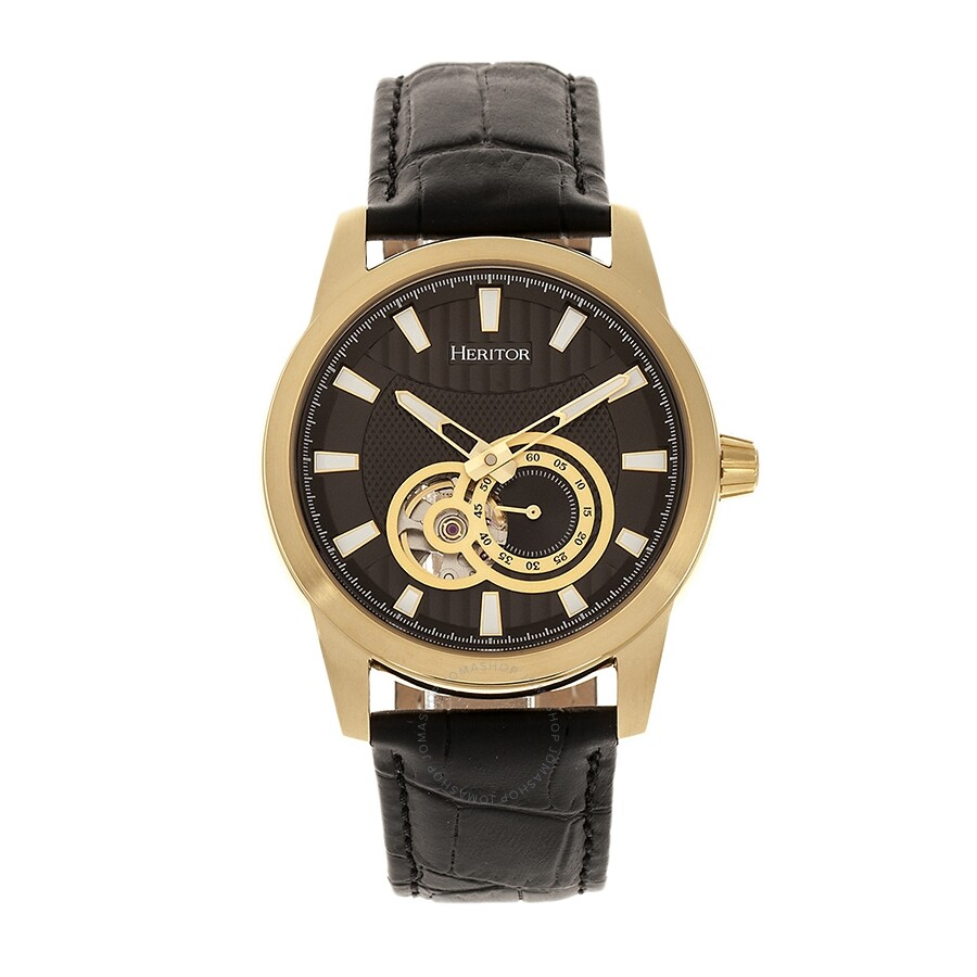 cddc7097533 Heritor Davidson Automatic Black Dial Men's Watch HR8005 - Heritor ...