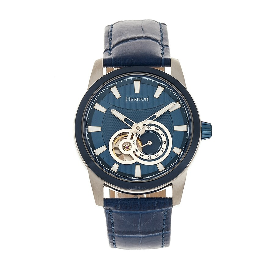 480aef3cad7 Heritor Davidson Automatic Blue Dial Men's Watch HR8004 - Heritor ...