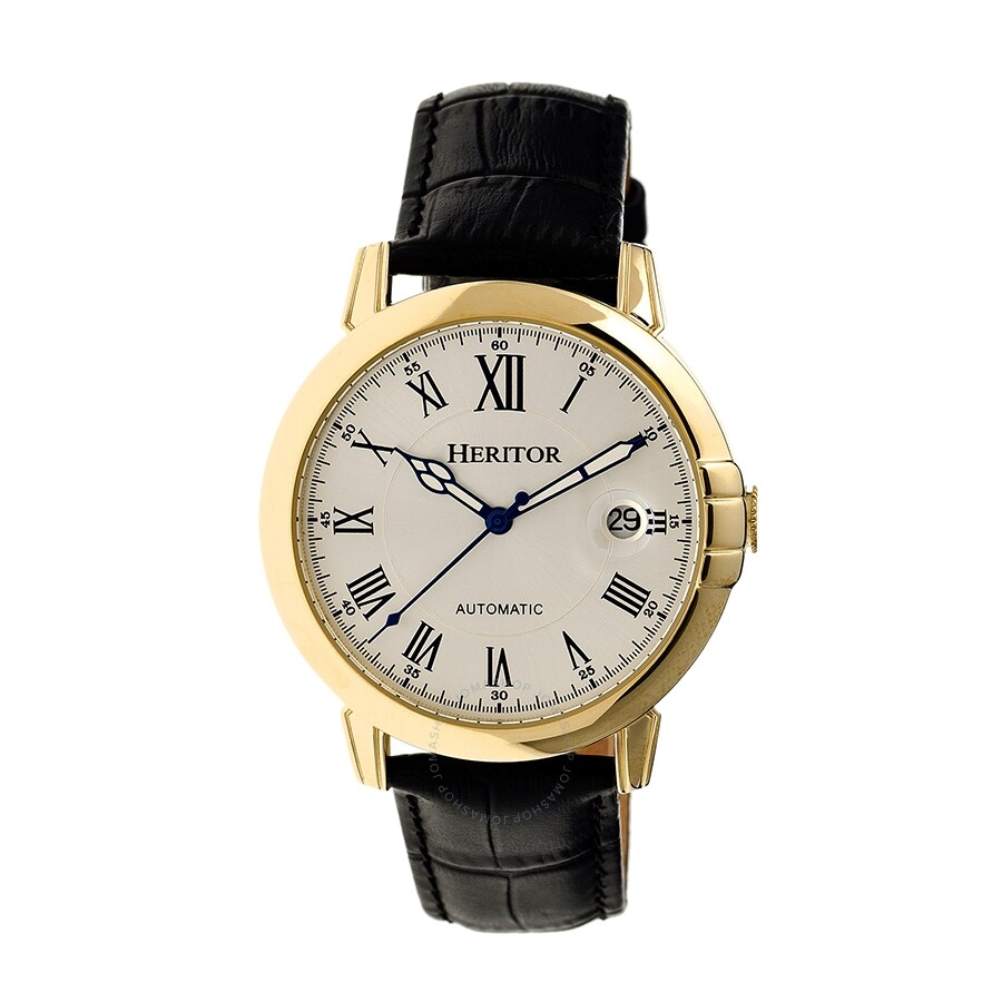 heritor laudrup automatic silver brushed black