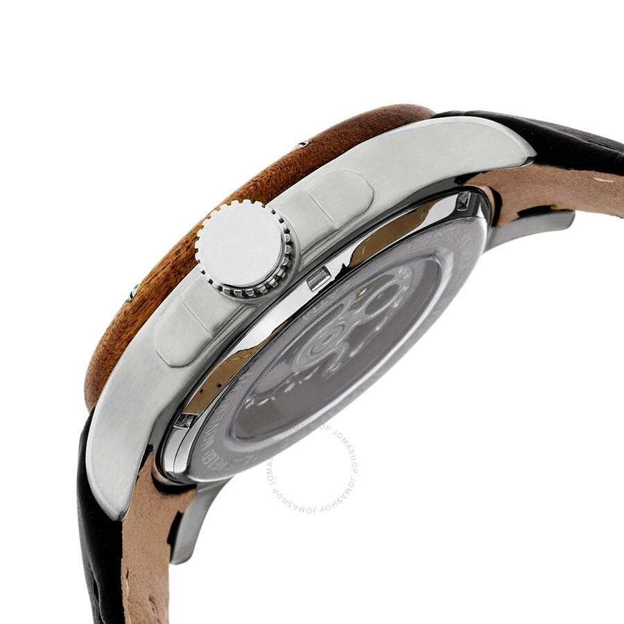 982f36124 ... Heritor Montrichard Black Dial Black Leather Strap Men's Watch HR4502  ...
