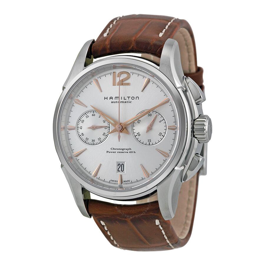hamilton jazzmaster chronograph silver s