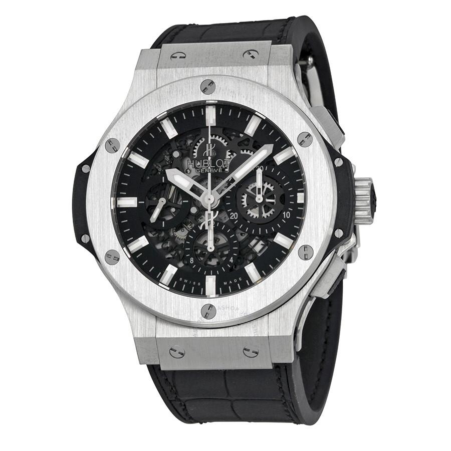 Hublot big bang aero bang black dial chronograph men 39 s watch 311 sx 1170 gr big bang hublot for Hublot watches