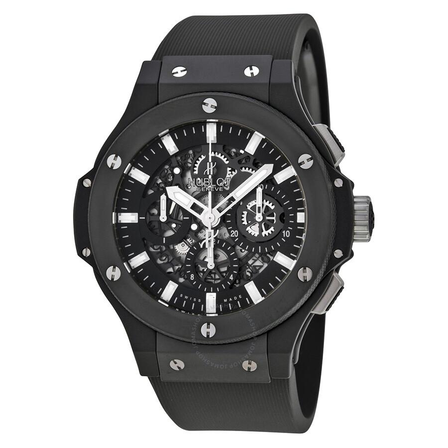 Hublot big bang aero bang black magic automatic chronograph men 39 s watch 311 big for Hublot watches