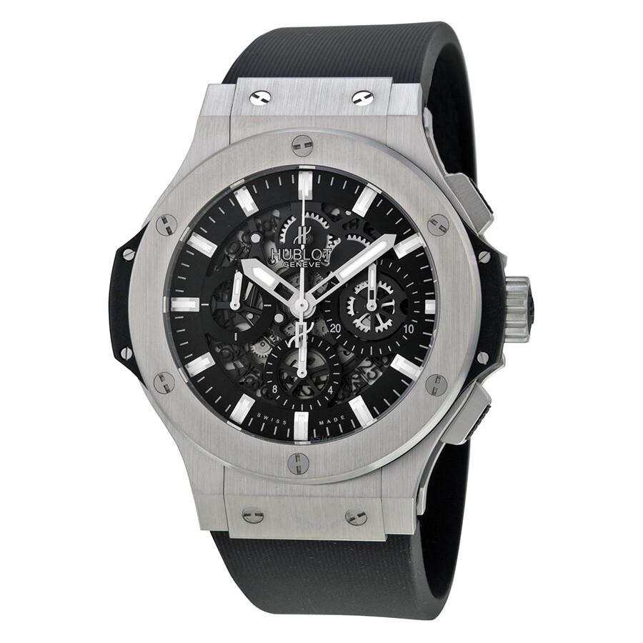 Hublot big bang aero bang steel black dial automatic men 39 s watch 311 big bang aero for Hublot watches