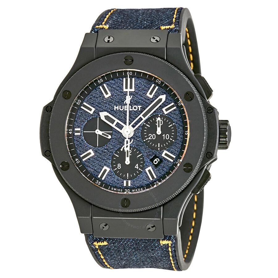 Hublot big bang jeans dial men 39 s watch 301 big bang jeans hublot for Watches hublot