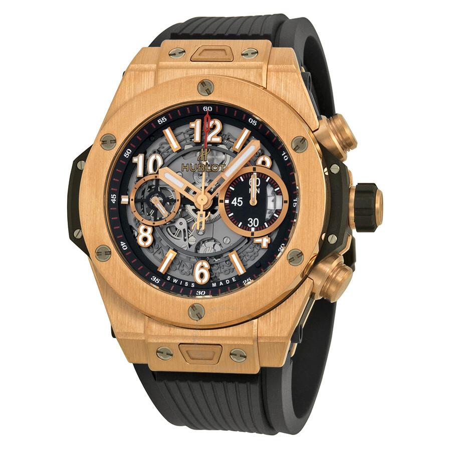 8ed0b711769f8 Hublot Big Bang Skeleton Dial 18kt Rose Gold Men s Watch 411OX1180RX Item  No. 411.OX.1180.RX