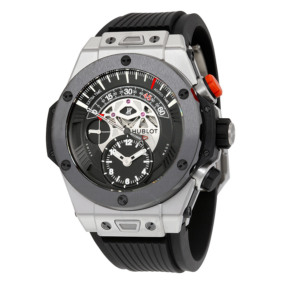 Hublot Big Bang Unico Bi-Retrograde Mat Black Dial Titanium Men's Watch 413.