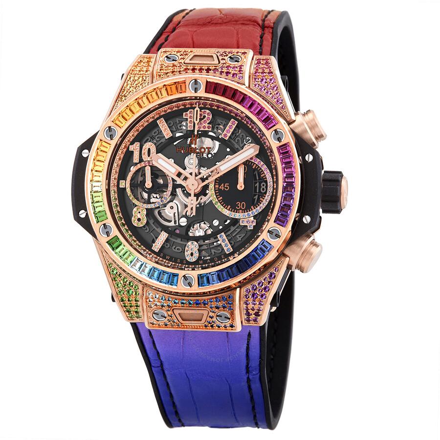 Hublot Big Bang Unico King Gold Rainbow Automatic Men's Watch  441.OX.9910.LR.0999 - Fado.vn