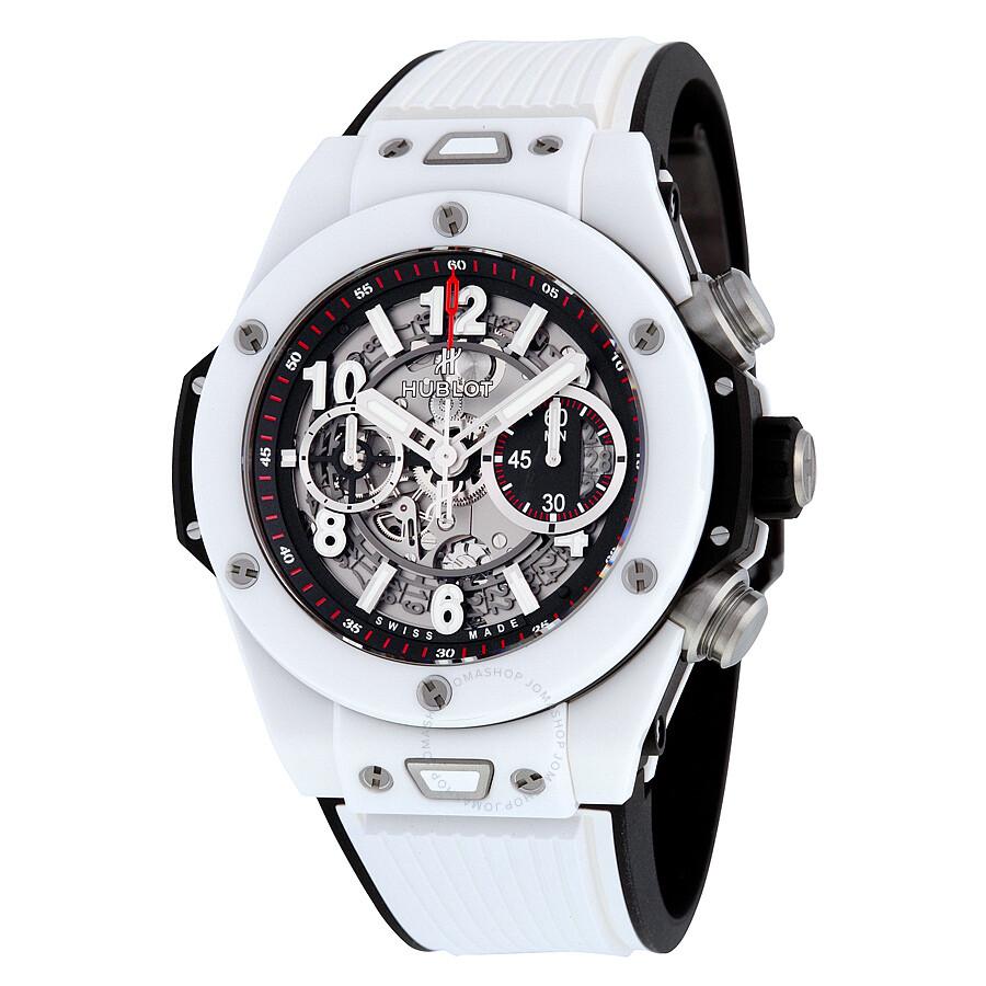 Hublot big bang unico mat black dial ceramic chronograph men 39 s watch 411 big bang for Ceramic man watch