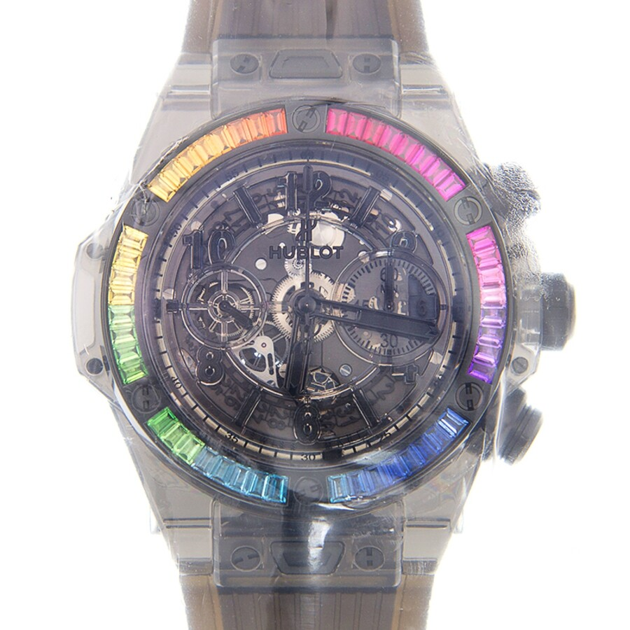 Hublot Big Bang Unico Rainbow Sapphire Chronograph Automatic Men's Watch  411 JB 4901 RT 4099
