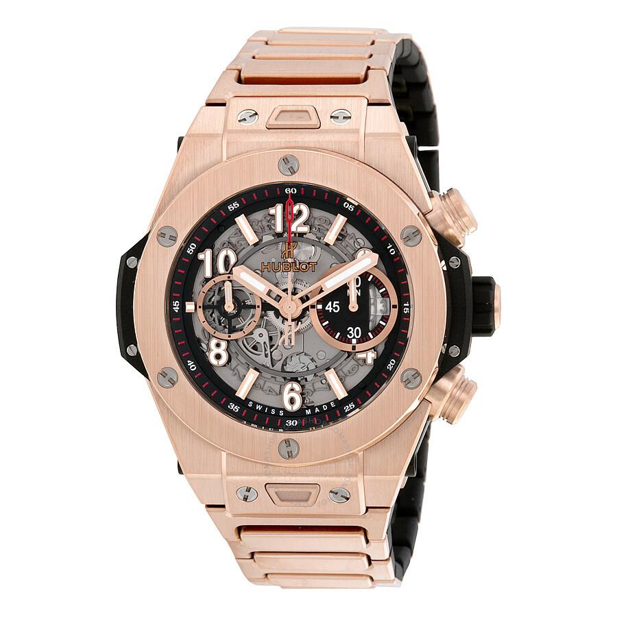 352c63db811df Hublot Big Bang UNICO Skeleton Dial 18k Rose Gold Men s Watch 411.OX ...