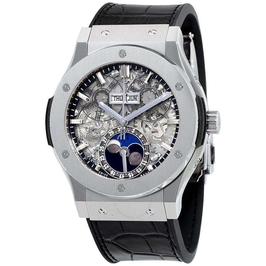 Hublot Classic Fusion Aerofusion Moonphase Sapphire Dial Titanium Men s  Watch 517.NX.0170. 1c78ca2db4a