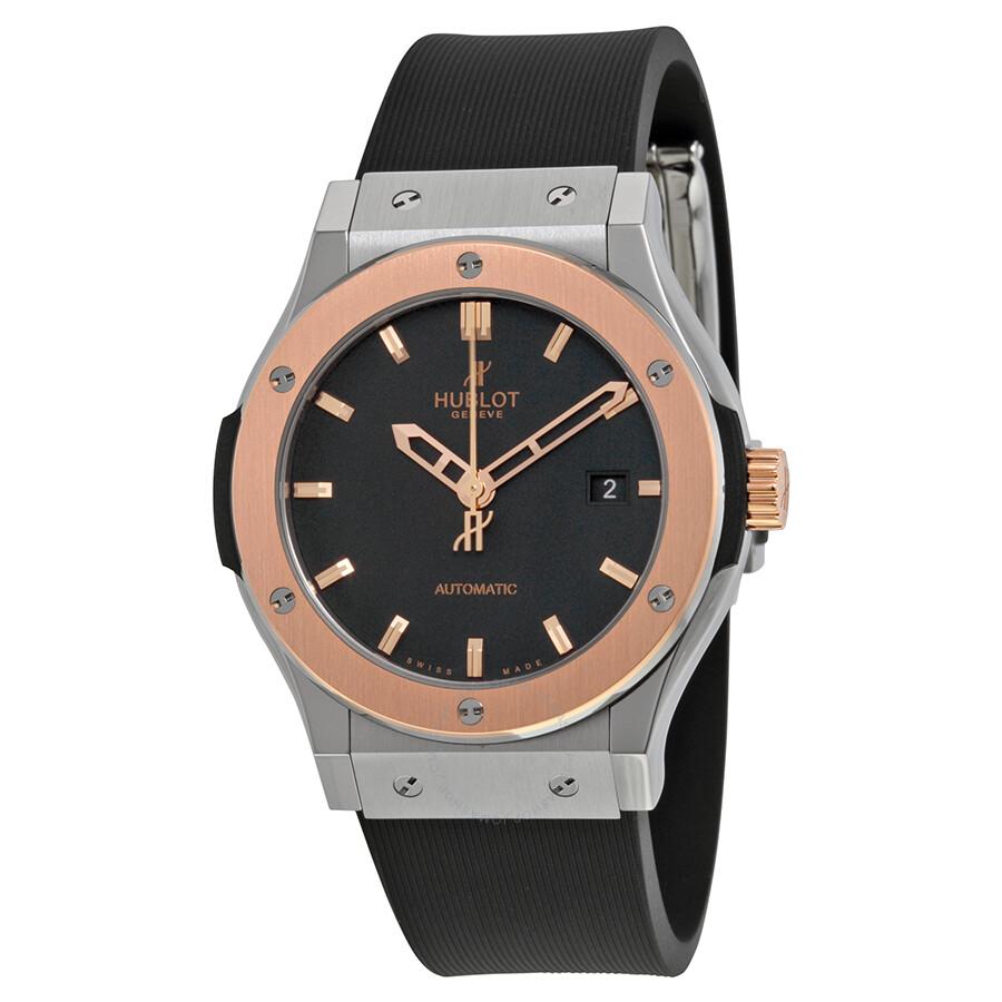 Hublot classic fusion automatic black dial men 39 s watch 542no1180rx classic fusion hublot for Hublot watches