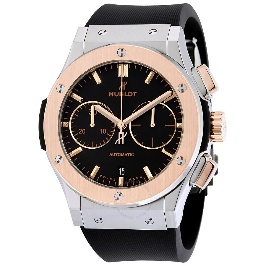 Hublot classic fusion automatic black dial men 39 s watch 521 classic fusion hublot for Hublot watches
