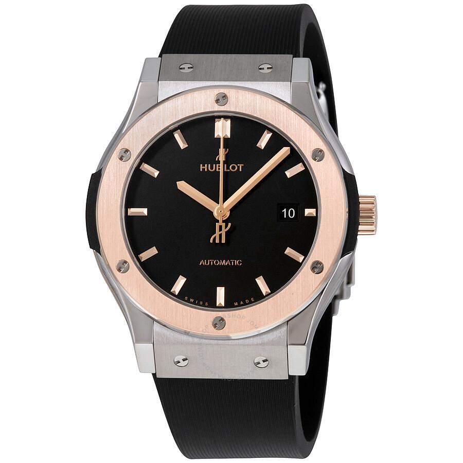 Hublot classic fusion automatic black dial men 39 s watch 542no1181rx classic fusion hublot for Hublot watches