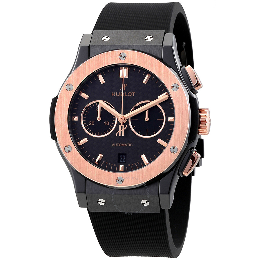 Hublot Classic Fusion Mat Black Carbon Fiber Dial Automatic Men's Watch 541.