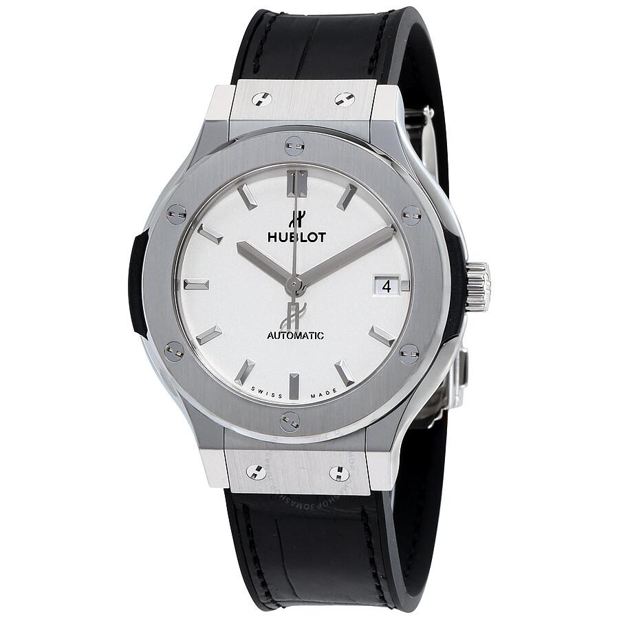 ebde456d1df Hublot Classic Fusion Silver Opaline Dial Automatic Men's Titanium Watch  565.NX.2611.