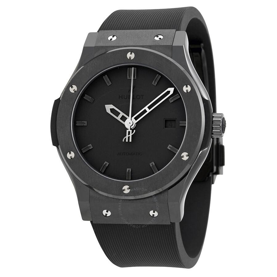 Hublot classic fusion black dial automatic men 39 s watch 542cm1110lr classic fusion hublot for Watches hublot