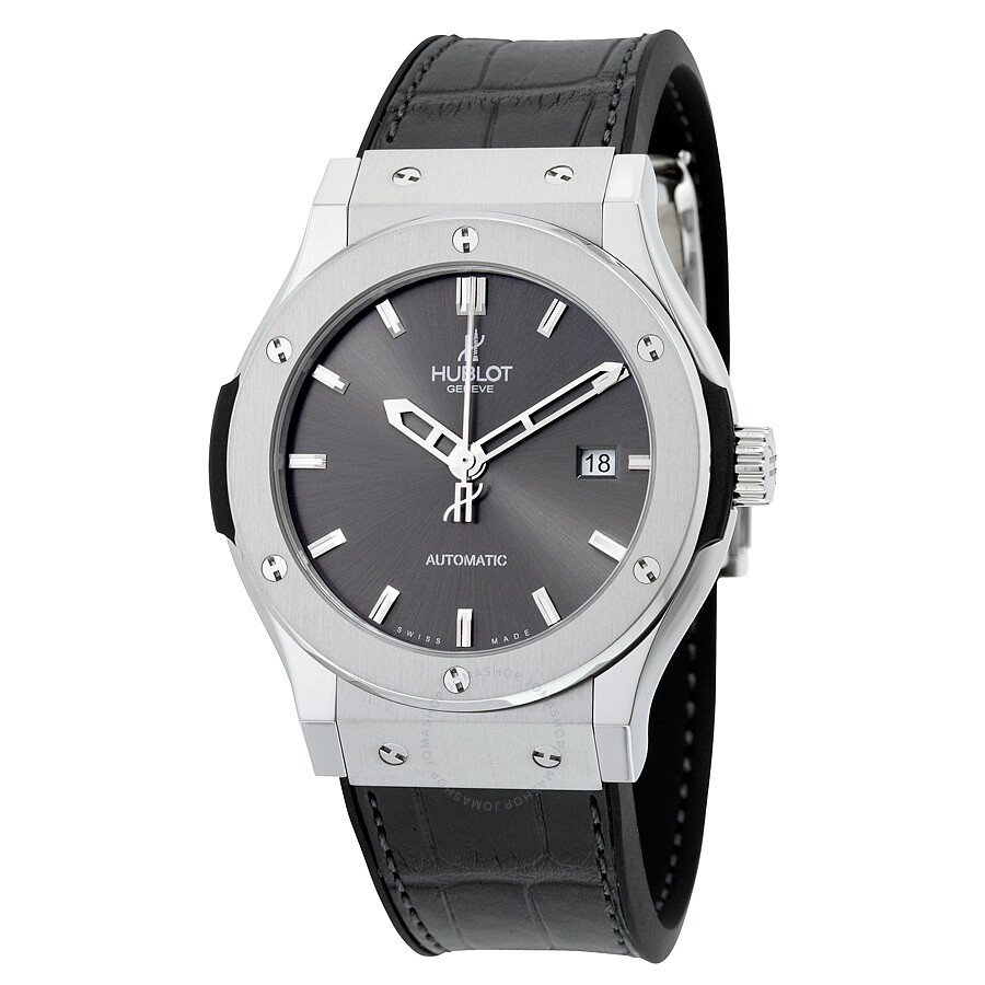 Hublot classic fusion black dial black leather men 39 s watch 542nx7070lr classic fusion hublot for Hublot watches