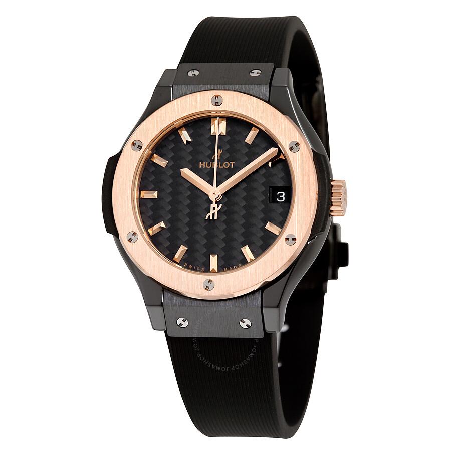 hublot classic fusion black dial black rubber watch 581co1781rx classic fusion hublot