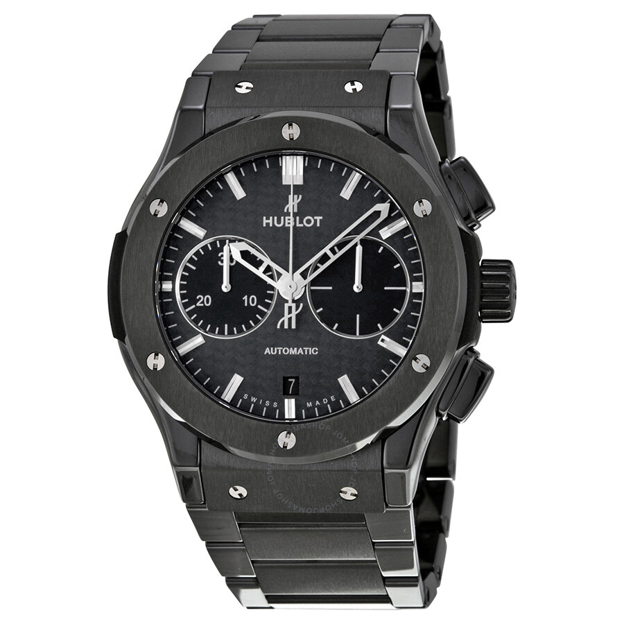 Hublot classic fusion chronograph black magic black dial automatic men 39 s watch 521 for Watches hublot