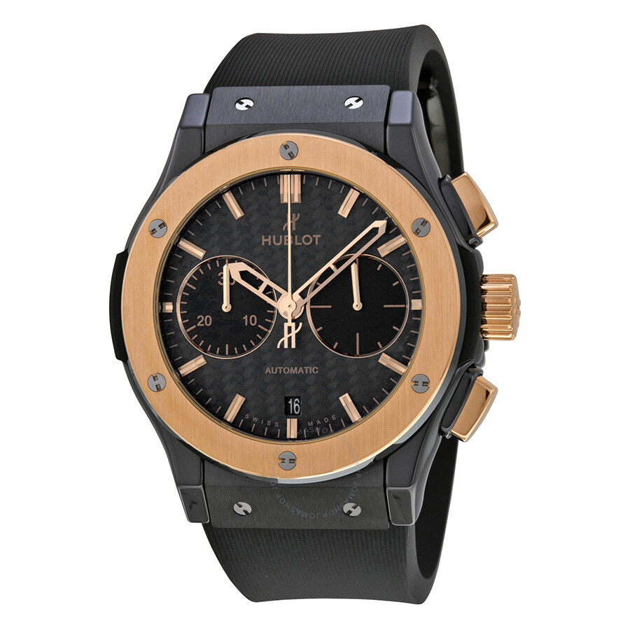 Hublot classic fusion chronograph ceramic and king gold men 39 s watch 521 classic for Watches hublot