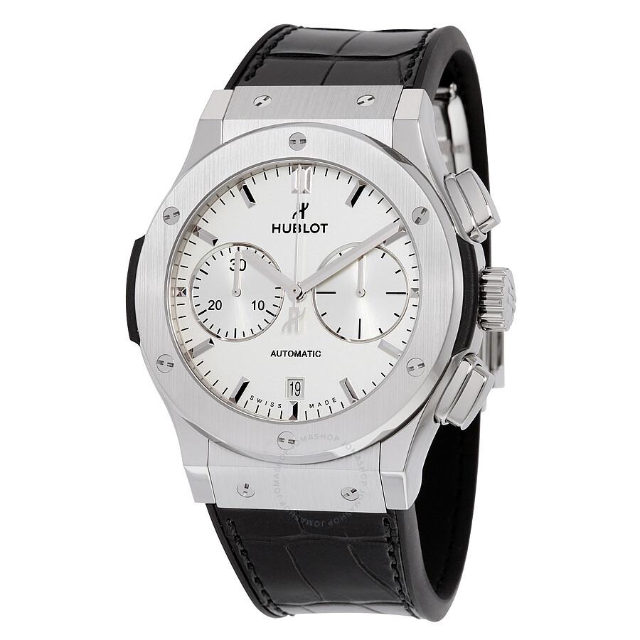 Hublot classic fusion chronograph titanium men 39 s watch 521 classic fusion hublot for Watches hublot