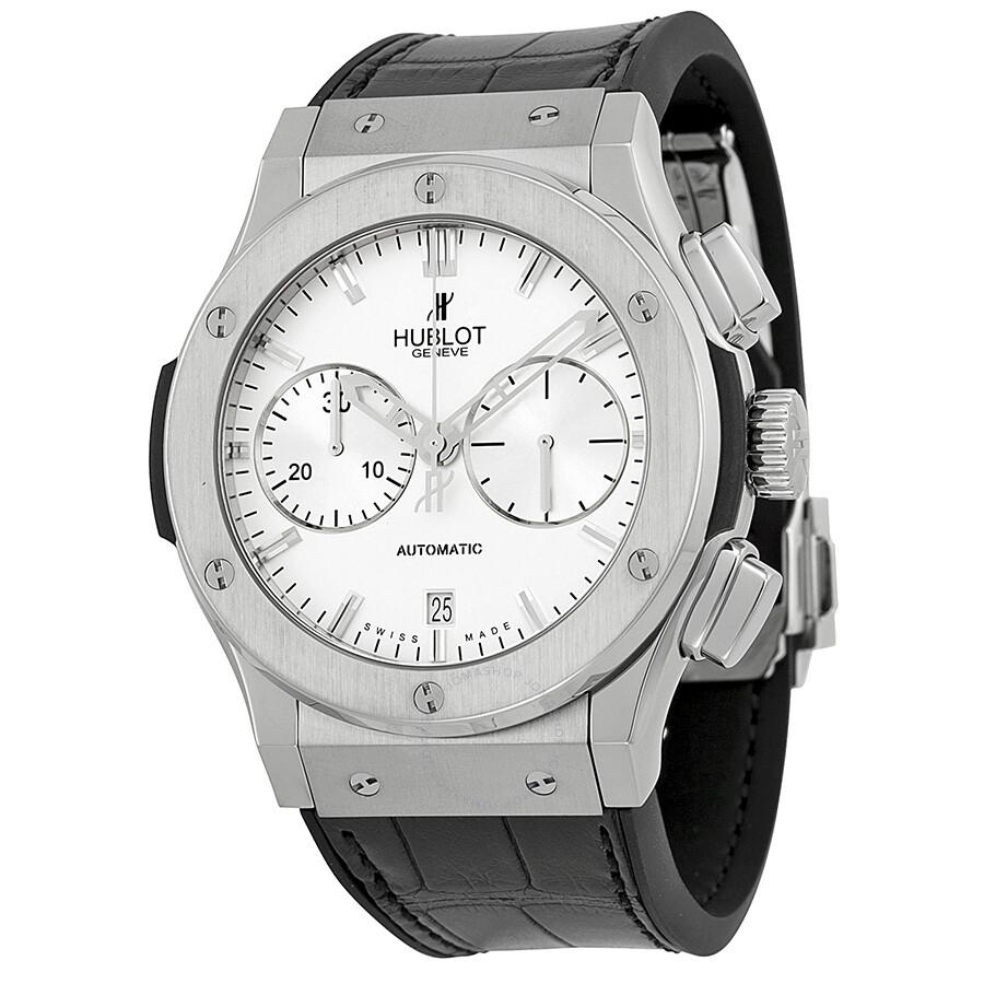 7b10fc68826 Hublot Classic Fusion Opaline Dial Black Leather Men's Watch 521.NX.2610.
