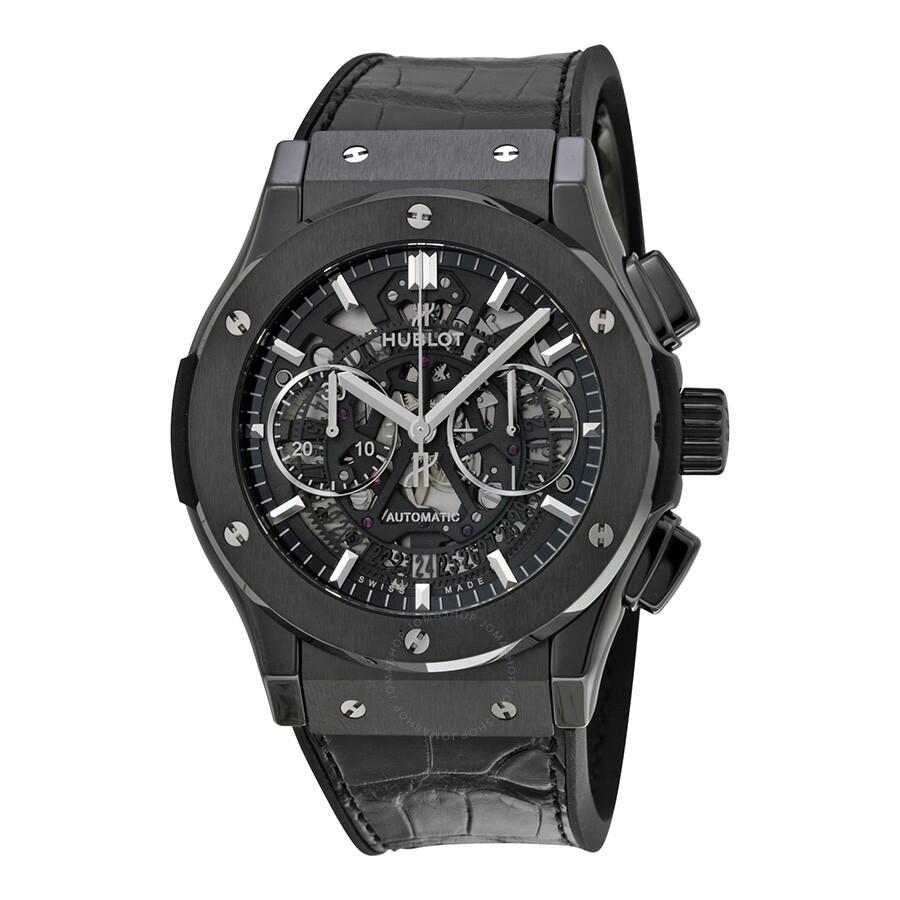 Hublot classic fusion skeleton dial automatic men 39 s watch 525cm0170lr classic fusion hublot for Classic skeleton watch