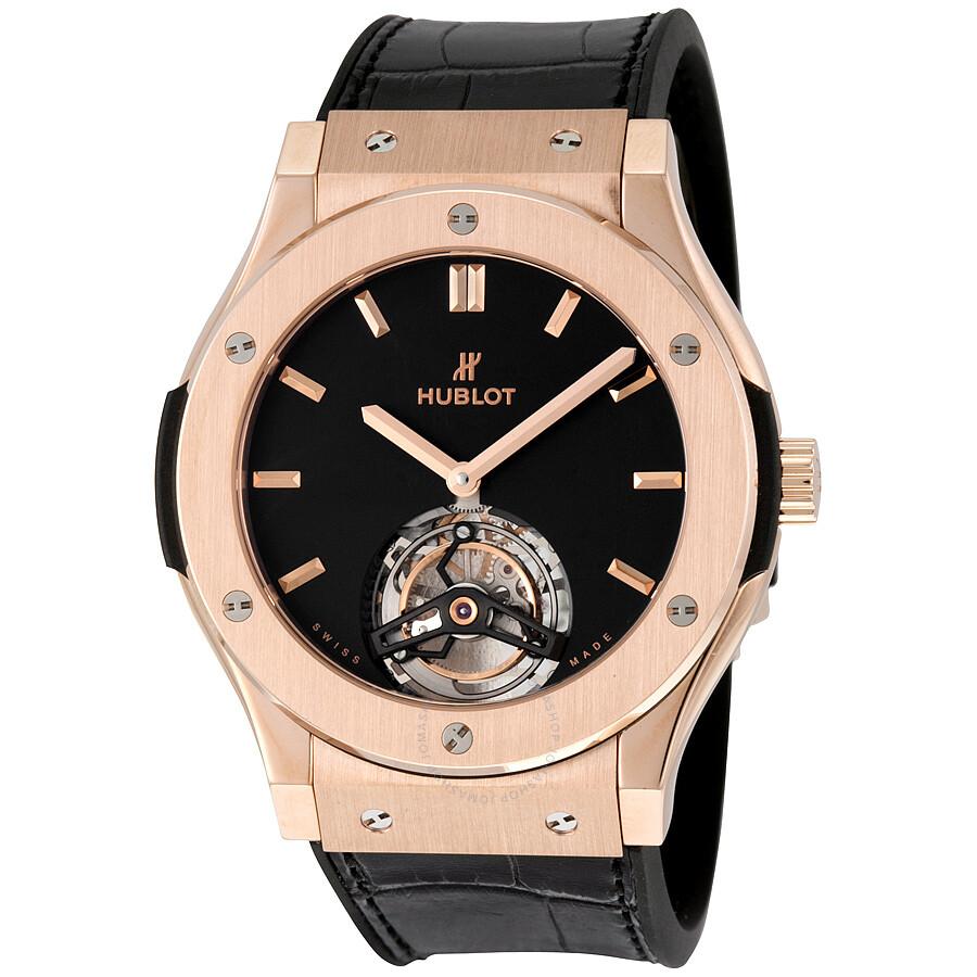 Hublot Classic Fusion Tourbillon 45mm Dial Black Men S Luxury Watch