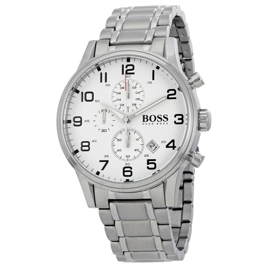 Hugo boss aeroliner chronograph men 39 s watch 1513182 hugo boss watches jomashop for Hugo boss watches