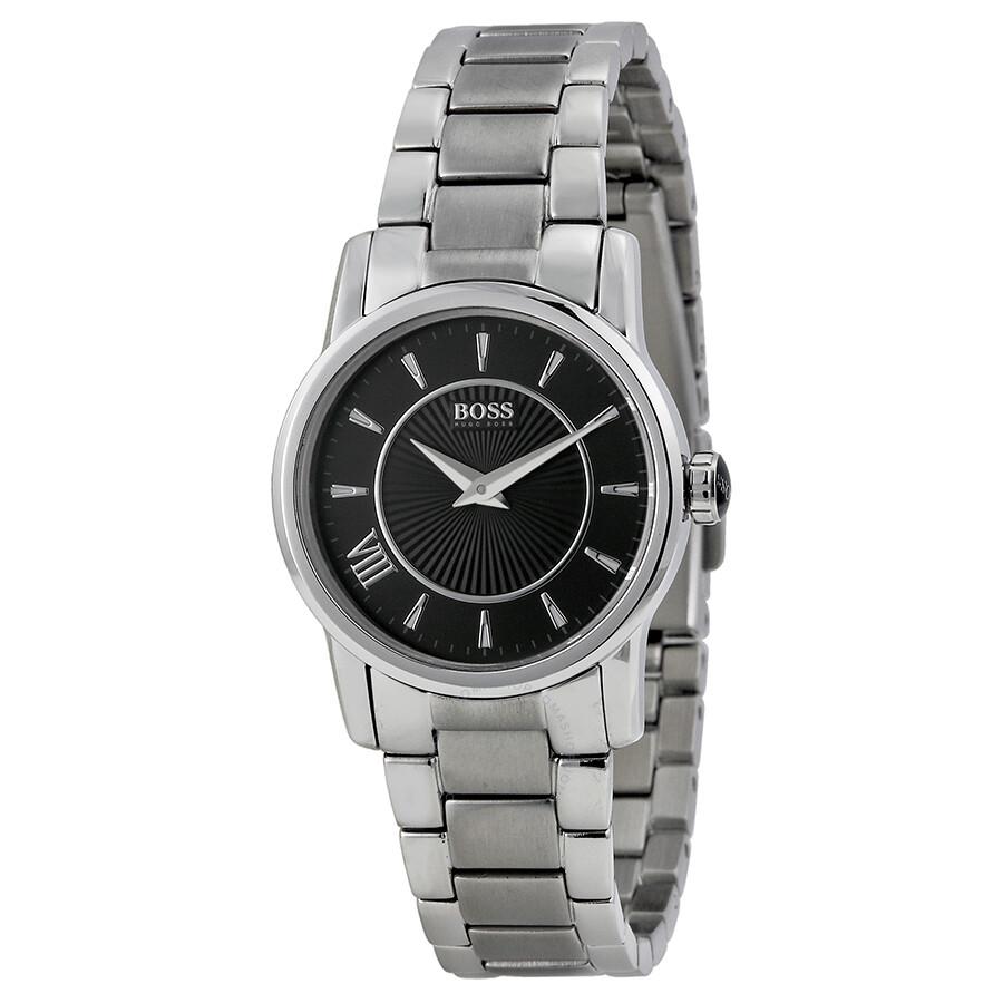 Hugo boss black dial stainless steel ladies watch 1502365 hugo boss watches jomashop for Hugo boss watches
