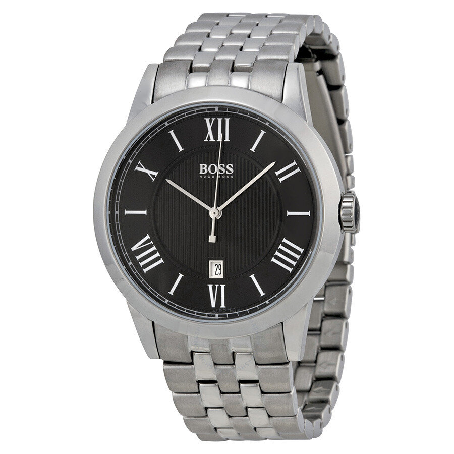 Hugo boss black dial stainless steel men 39 s watch 1512428 hugo boss watches jomashop for Hugo boss watches