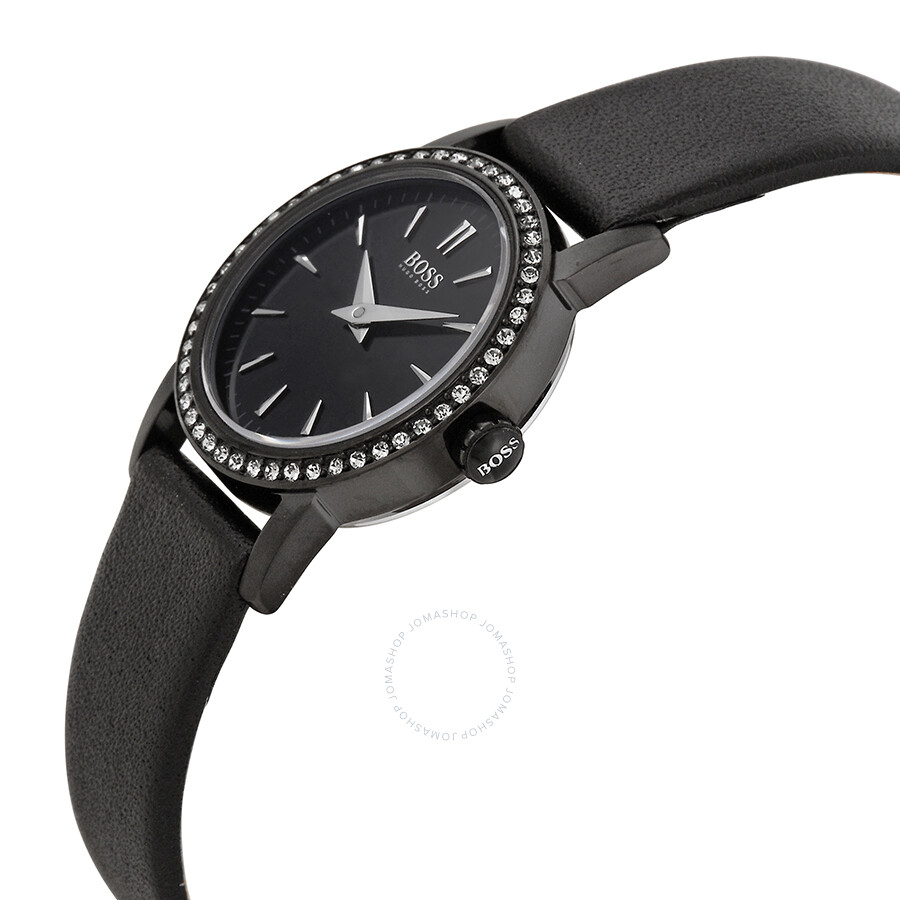 Hugo boss black editionblack dial black leather ladies watch 1502357 hugo boss watches for Hugo boss watches