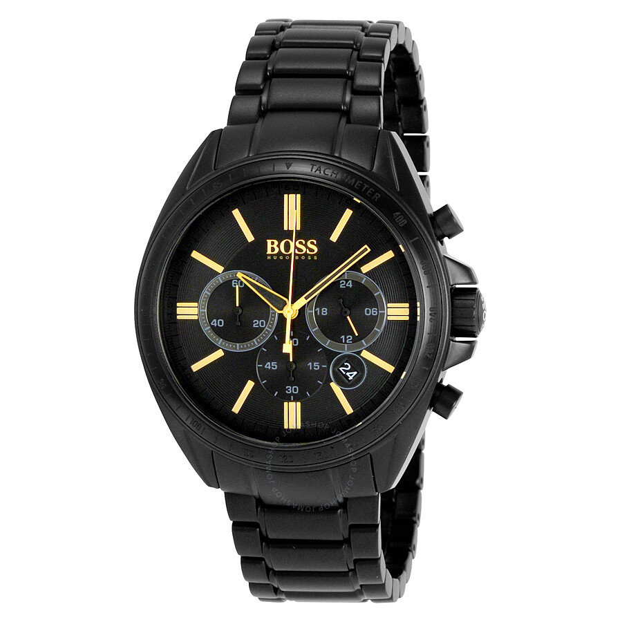 hugo boss watches jomashop hugo boss chronograph black dial black ion plated men s watch