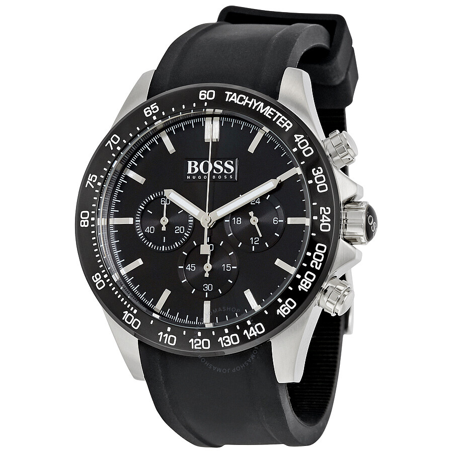 hugo boss ikon chronograph black dial men 39 s watch 1513341. Black Bedroom Furniture Sets. Home Design Ideas