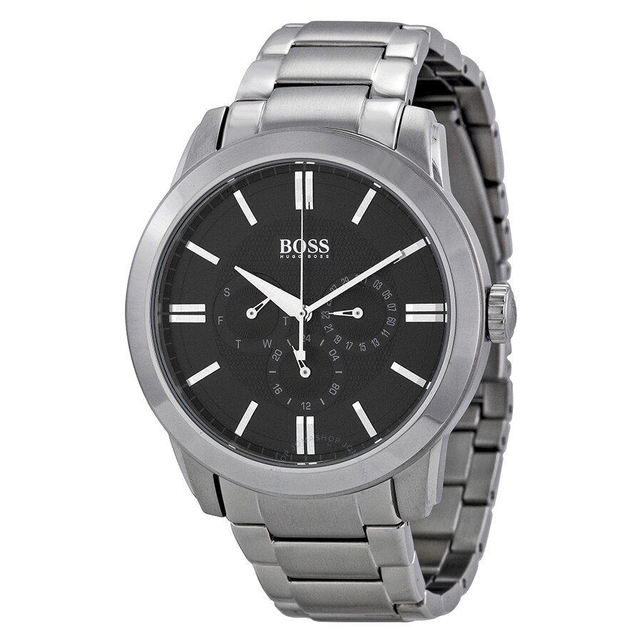 Hugo boss multi function black dial stainless steel men 39 s watch 1512893 hugo boss watches for Hugo boss watches